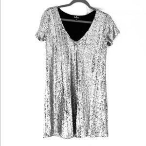 Lulus XS silver sequin dress